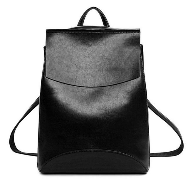 Women PU Leather laptop Backpacks High Quality Youth Backpacks School Shoulder Bagintothea-intothea
