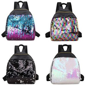 New Sequins Backpack Bling Glitter Women Teenage Girls School Bag Small Travelintothea-intothea