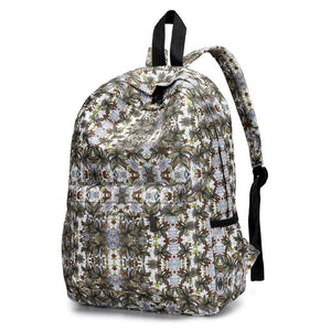 Genuine Backpack Women Fresh Style Women Backpacks Floral Print Bookbags Femaleintothea-intothea