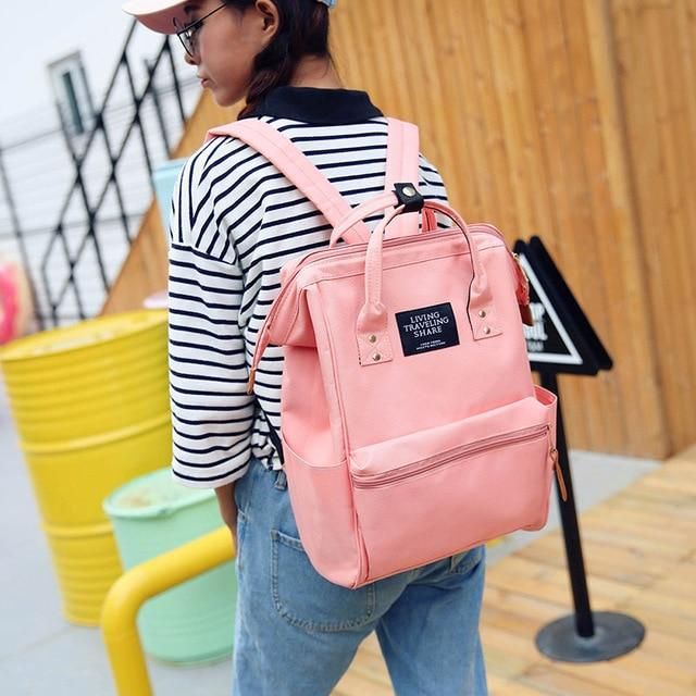 Girls Nylon School Backpack Women kanken Backpack Fashion Unisex Travel Bags Mochilaintothea-intothea
