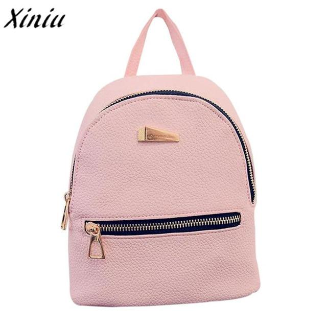 Hot Fashion Women's New Backpack Travel bag School Rucksack leather backpackintothea-intothea