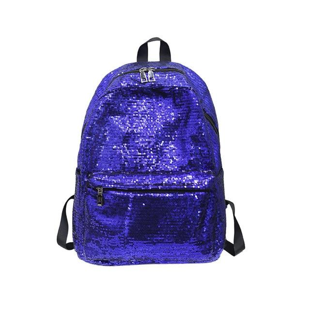 Backpack Leather School Backpacks Casual Daypack Women's Shinning Glitter Bling Backpack Preppyintothea-intothea