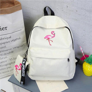 Backpacks Brand Women Simple Flamingo Printing Backpack For Teenage Girls Laptop Schoolintothea-intothea