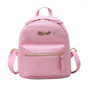 Backpack Women Leather Mini Fashion School Backpacks for Teenage Girls Small Classicintothea-intothea