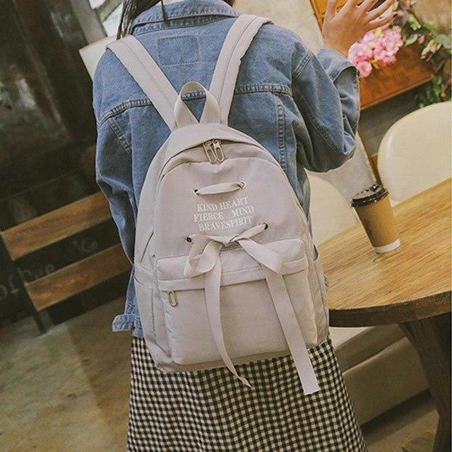 Fashion Female Backpack High Quality Canvas Schoolbag Backpacks For Teenage Girlsintothea-intothea