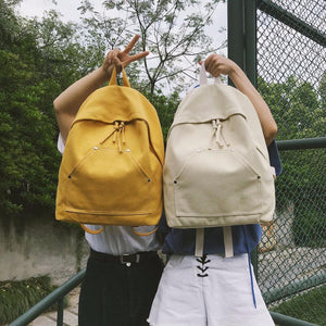 New PB16-25 linen contrast color backpack female trend shopping backpack Japan andintothea-intothea
