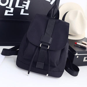 Student School Travel Large Laptop Drawstring Bag Black Nylon Backpacks AB@W3intothea-intothea