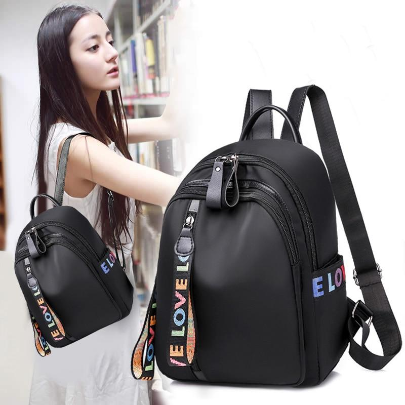 Backpack female Korean version 2018 new wave fashion wild casual Oxford canvasintothea-intothea