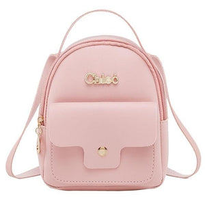 Fashion Ladies shoulders Small Backpack Letter Purse Mobile Phone Bag Casual styleintothea-intothea