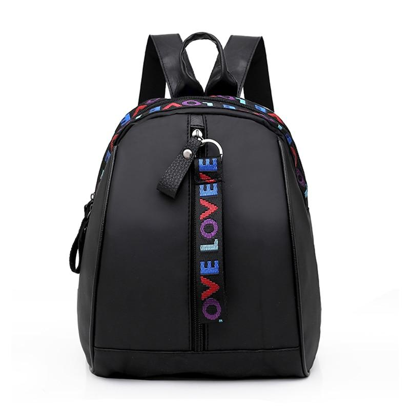2018 New Women Mini Backpack Black Nylon Small Travel Backpack Women Schoolintothea-intothea