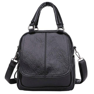 2018 PU Leather Women Backpack Solid Backpack Female Small School Bags Travelintothea-intothea