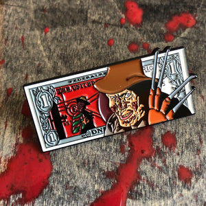Freddy dollar bill Enamel Pin
