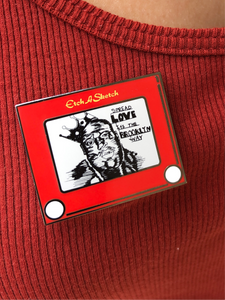 BIG Etch a sketch pin