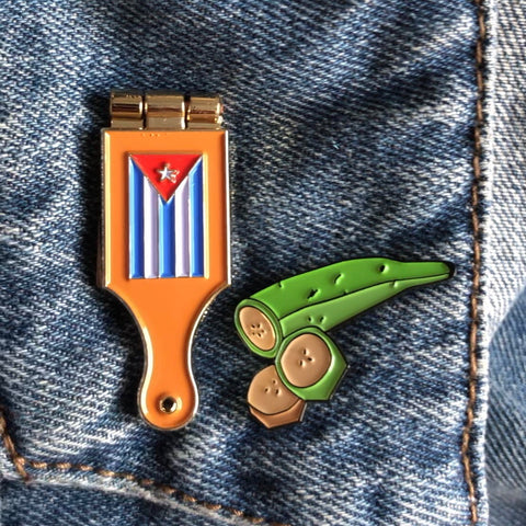 Cuban flag tostonera pin set