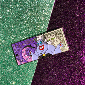 Sea witch dollar pin