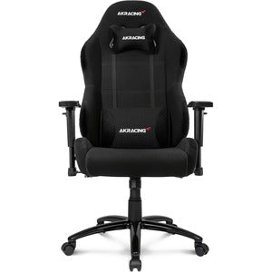 AKRACING Core Series EX-Wide Gaming Chair - For Gaming - Metal, Aluminum, Steel, Polyester, Fabric, Nylon - Black XTRAWIDE FABRIC 3DARMS 180 RECLINE