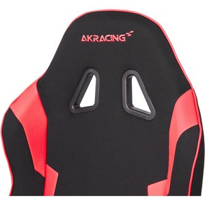 AKRACING Core Series EX-Wide Gaming Chair - For Gaming - Metal, Aluminum, Steel, Polyester, Fabric, Nylon - Red FABRIC & PU UPHOLSTERY XL PILLOWS