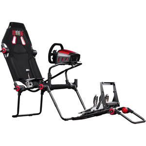 Next Level Racing F-GT Lite Formula and GT Foldable Simulator Cockpit - Fabric PATENT PENDING DESIGN FORMULA & GT