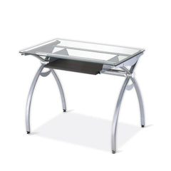 Techni Sport RTA-00397B Gaming Desk - Arcadia, Clear - eSportsfurnitureworld