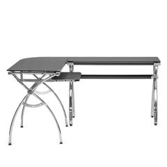 Techni Sport RTA-0039LC Gaming Desk - Luxor, Black - eSportsfurnitureworld
