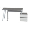 Image of Techni Sport RTA-2336 Gaming Desk - Transformer, Gray - eSportsfurnitureworld