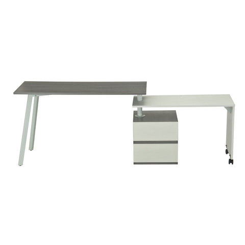 Techni Sport RTA-2336 Gaming Desk - Transformer, Gray - eSportsfurnitureworld