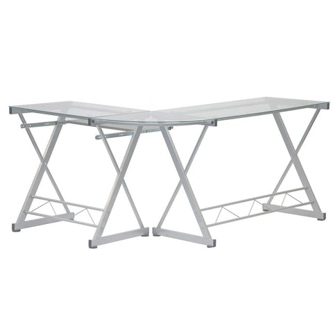 Techni Sport RTA-3802 Gaming Desk - Reno, Clear - eSportsfurnitureworld