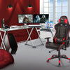 Image of Techni Sport RTA-3802 Gaming Desk - Reno, Clear - eSportsfurnitureworld