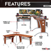 Image of Techni Sport RTA-3806 Gaming Desk - Aetherflux, Mahogany - eSportsfurnitureworld