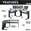 Image of Techni Sport RTA-3803 Gaming Desk - Envidia, Graphite - eSportsfurnitureworld