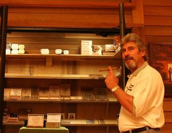 Vince standing by one of our humidor.