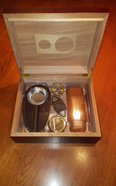 Cherry Finish Humidor With Accessories