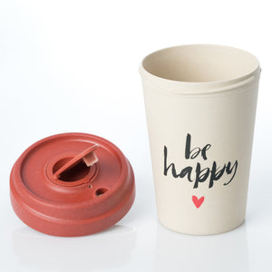 Happy Calligraphy BambooCup