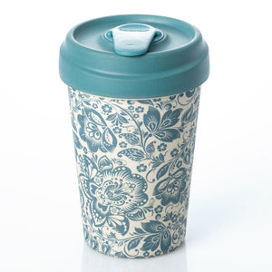 Blue Flowers BambooCup