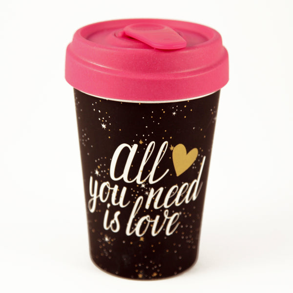All You Need Is Love Gold Foil BambooCup