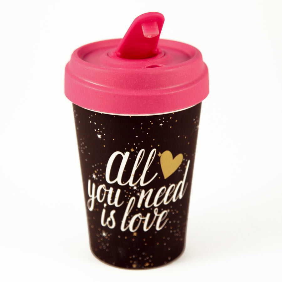 All You Need Is Love Gold BambooCup by chic.mic