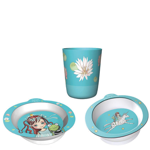 Queeny & Quaks Children's 3-Piece Dinner Set