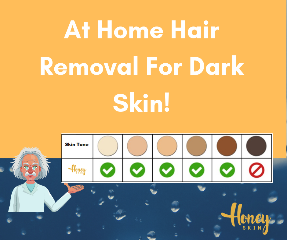 at home laser hair removal for dark skin