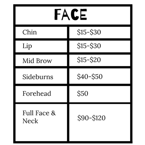 Laser Hair Removal price for face