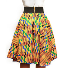 Kente Print Maxi Long Skirt