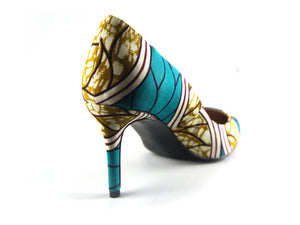 African print shoes - Mitex Holland Turquoise - footwear - Ama Select