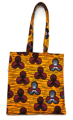 Orange Ankara Medium Tote Bag - Bags - Ama Select