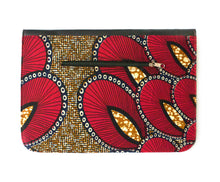 Ankara A4 Portfolio Clutch Bag - Red Peacock - Bags - Ama Select
