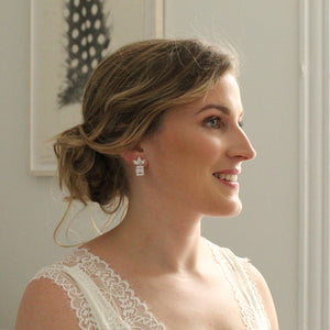 Rent bridal jewelry for your wedding day. Borrowed Gems