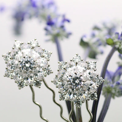 LIZ GARLAND BURST HAIRPINS (Set of 2)