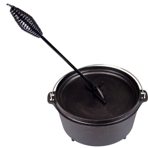Camp Dutch Oven Lid Lifter. Black 9 MM Bar Stock for Lifting and Carrying Dutch Ovens