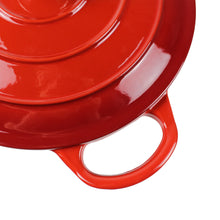 "Load image into Gallery viewer, Dutch Oven Enameled Cast Iron Pot with Dual Handle and Cover Casserole Dish - Round Red 10.23"" (26 cm)"