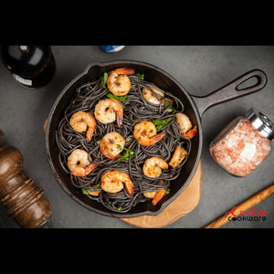Cast Iron Skillets, Set Of 4 (Pre-seasoned) 10 Inch - 5.1 Inch, Including Large & Small Silicone Hot Handle Holders