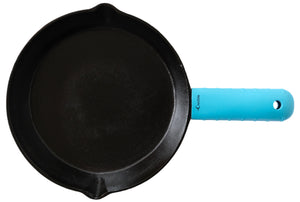 Silicone Hot Handle Holder, Potholder (Extra Thick Turquoise) for Cast Iron Skillets, Pans, Frying Pans & Griddles - Sleeve Grip, Handle Cover