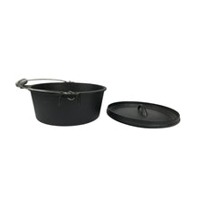 Load image into Gallery viewer, Pre-Seasoned Cast Iron Camp Dutch Oven, 4.1 qt, including Lid Lifter